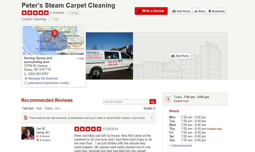 Peter S Steam Carpet Cleaning Amp Repairs Free Estimates